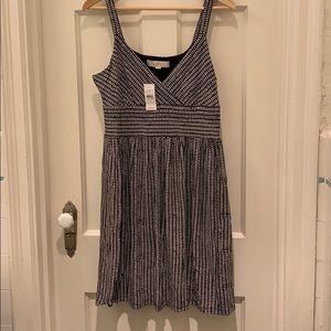 Loft black and white chevron print dress size M